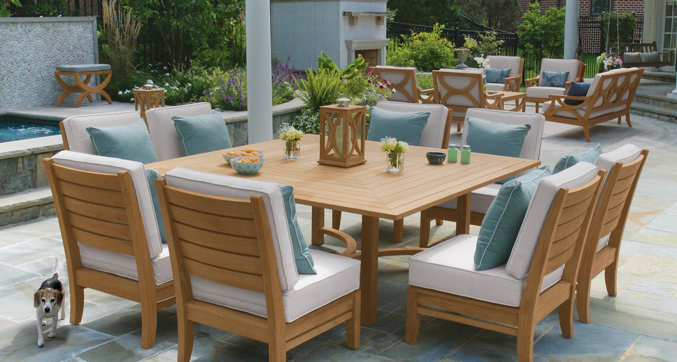 Mcleans premier source for teak outdoor furniture
